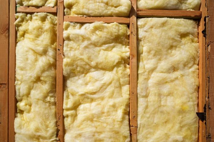 Traditional fiberglass insulation